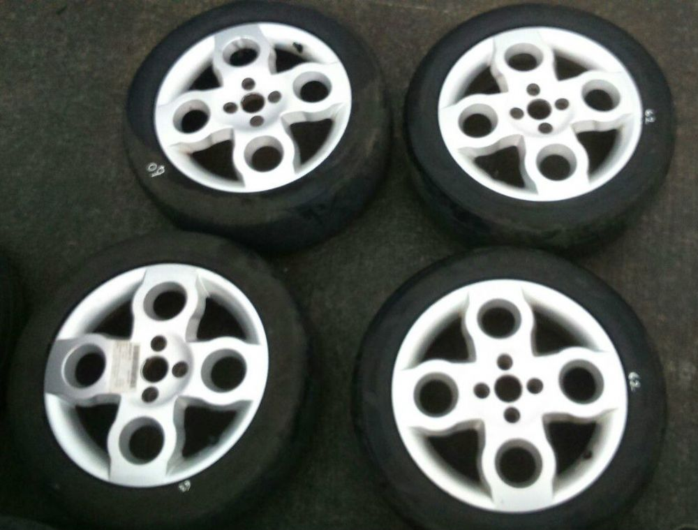 "SET OF 15"" 4 STUD ALLOY WHEELS WITH TYRES FOR A RENAULT CLIO / MODUS / KANGOO"